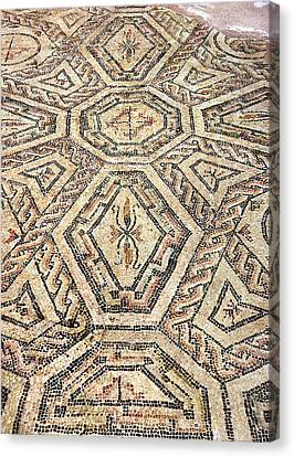 Detail Of Geometric Mosaic Canvas Print by Sheila Terry