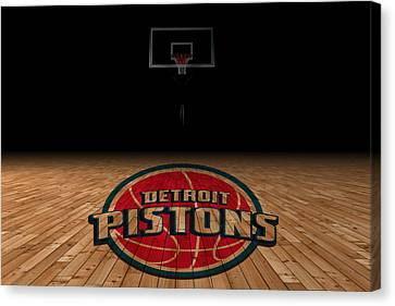 Benches Canvas Print - Detroit Pistons by Joe Hamilton