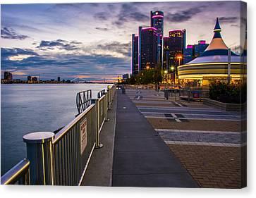 Detroit River Walk Canvas Print