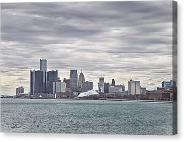 Belle Isle Canvas Print - Detroit Skyline From Belle Isle by John McGraw
