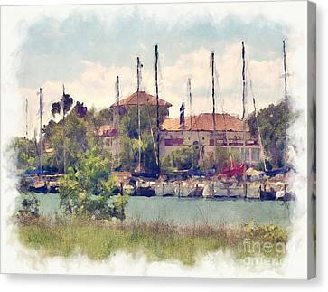 Detroit Yacht Club Canvas Print by Phil Perkins