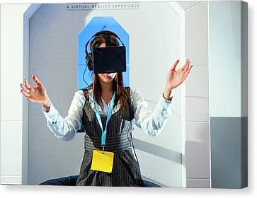 Diabetes Virtual Reality Demonstration Canvas Print by Dan Dunkley