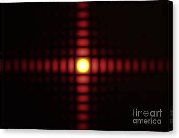 Diffraction On Square Aperture Canvas Print
