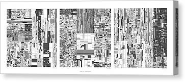 Digits Of Pi Phi And E In A 6 Level Treemap Canvas Print by Martin Krzywinski