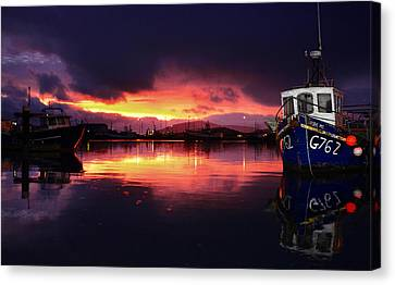 Dingle Harbour Sunset Canvas Print by Florian Walsh