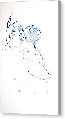 Dinka Embrace Canvas Print by Gloria Ssali