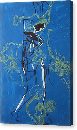 Dinka Dance Canvas Print - Dinka Painted Lady - South Sudan by Gloria Ssali
