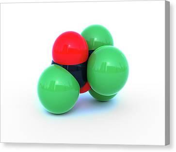 Diphosgene Molecule Canvas Print by Indigo Molecular Images