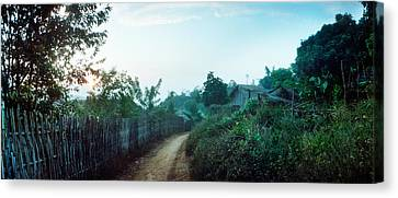 Dirt Road Passing Through An Indigenous Canvas Print