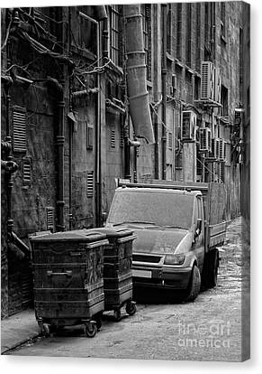 Dirty Back Streets Mono Canvas Print