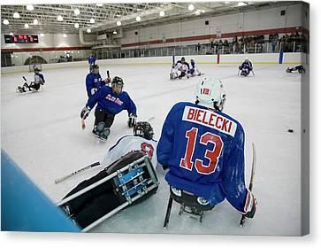 Disabled Ice Hockey Canvas Print