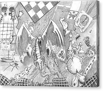 Face Canvas Print - Disintegration Of Sorts by Dan Twyman