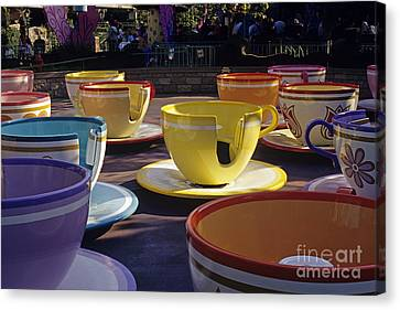 Disneyland Rides Mad Tea Party Ride Anaheim California Usa Canvas Print