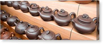 Display Of Chinese Teapots, Chinatown Canvas Print by Panoramic Images
