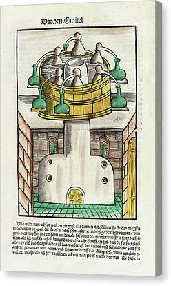 Distillation Apparatus Canvas Print by National Library Of Medicine