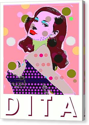 Dita Canvas Print by Ricky Sencion