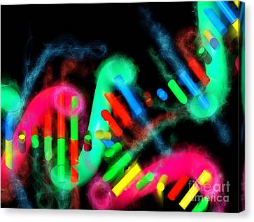 Canvas Print featuring the digital art Dna Dreaming 7 by Russell Kightley