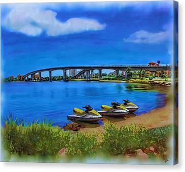 Florida Bridge Canvas Print - Do You Sea Doo by Deborah Boyd