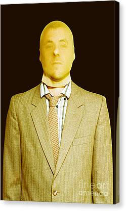 Dodgy Business Person In Stocking Mask Canvas Print by Jorgo Photography - Wall Art Gallery