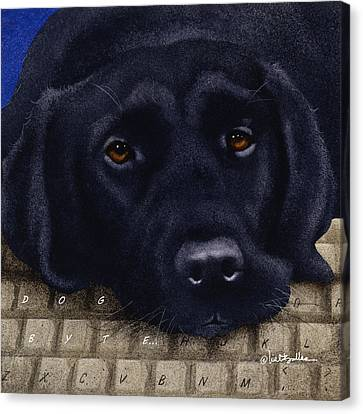 Labradors Canvas Print - Dog Byte... by Will Bullas
