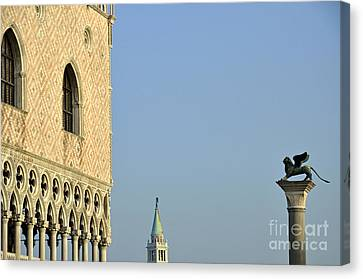 Canvas Print - Doges Palace And Column Of San Marco by Sami Sarkis