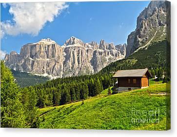 Dolomiti - High Fassa Valley Canvas Print by Antonio Scarpi