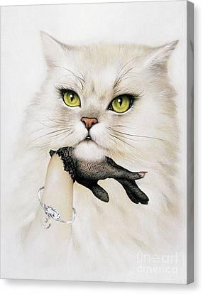 Domestic Cat, Conceptual Image Canvas Print