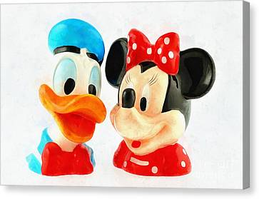 Donald Duck And Minnie Mouse Canvas Print