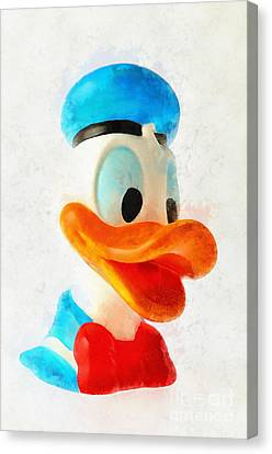 Puppets Canvas Print - Donald Duck by George Atsametakis