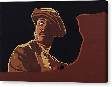 Canvas Print featuring the painting Donny Hathaway by Rachel Natalie Rawlins