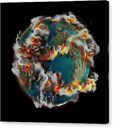 Doomsday Volcanoes Canvas Print by Claus Lunau