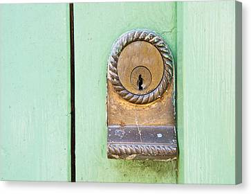 Door Lock Canvas Print by Tom Gowanlock