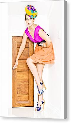 Super Girl Canvas Print - Door To Fashion Stardom by Jorgo Photography - Wall Art Gallery