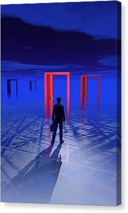 Doorways Of Opportunity Canvas Print by Carol & Mike Werner