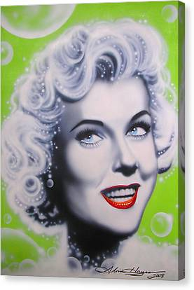 Doris Day Canvas Print by Alicia Hayes