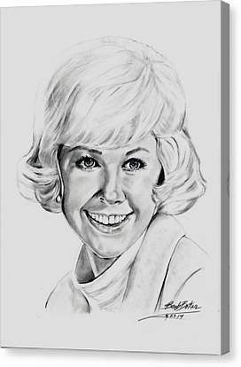 Doris Day Canvas Print by Barb Baker