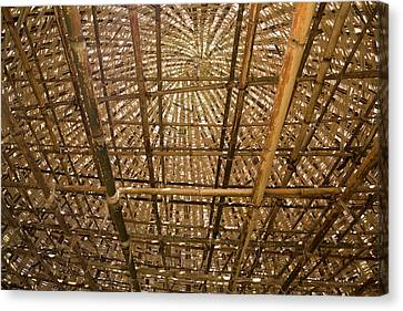 Bamboo House Canvas Print - Dorze Tribe In Ethiopia by Ton Koene