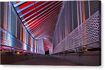 Double Helix Footbridge Canvas Print