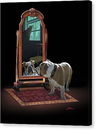 Double Trouble Canvas Print by Harold Shull