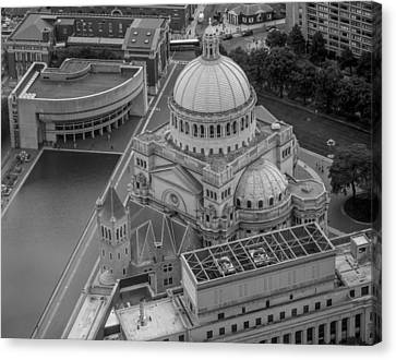Downtown Boston Bw Canvas Print by Trace Kittrell