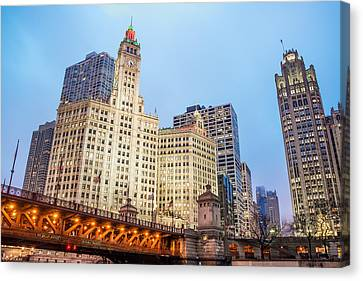 Downtown Chicago View Canvas Print