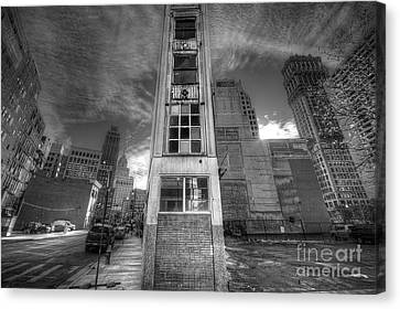 Downtown Synagogue In Detroit Canvas Print by Twenty Two North Photography