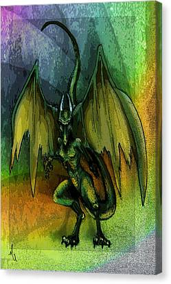 Dragon Canvas Print by Michelle Rene Goodhew