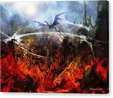 Dragon's Dawn Canvas Print