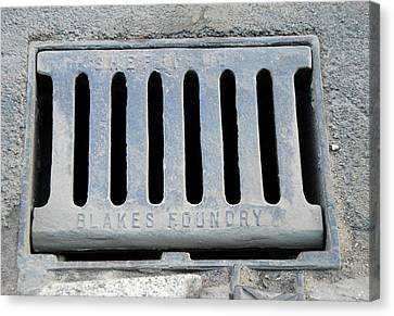 Drain Cover Canvas Print by Public Health England