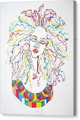 Dreadlocks Piano Goddess Canvas Print