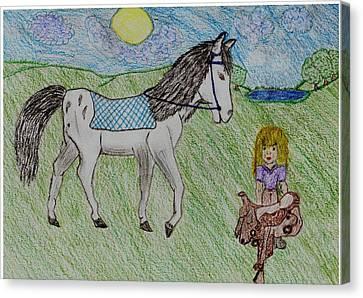 Childlike Canvas Print - Dream Horse by Shaunna Juuti