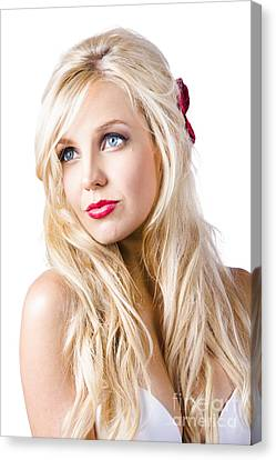 Dreamy Blond Girl With Faraway Expression Canvas Print by Jorgo Photography - Wall Art Gallery