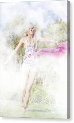 Dreamy Enchanted Forest Dancer Canvas Print by Jorgo Photography - Wall Art Gallery