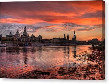 Dresden Sunset Canvas Print